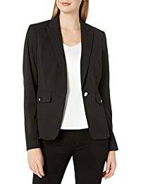 Calvin Klein 女士水肺绉纱单扣夹克