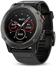 Garmin Fenix 5X 手表,藍寶石—黑灰色表帶