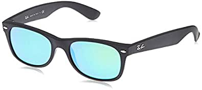 Ray-Ban Men's 0RB2132 Square Sunglasses, Rubber Black, 52 mm