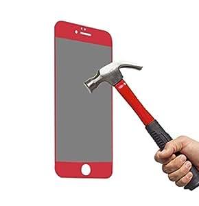 Mcoolbo iPhone 6 6s 玻璃隐私防间谍,4D 钢化玻璃屏幕保护膜 iPhone 6 和 6s 4.7 英寸 红色