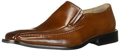 Stacy Adams 男士 Hillman 一脚蹬皮鞋 Cognac Buffalo 11.5 M US