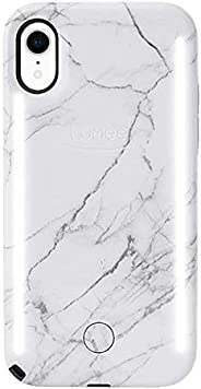 LuMee Duo 手机壳   前后 LED 照明,可变调暗   减震、防撞手机壳、自拍式手机壳   仅 iPhone XRLD-IPXR-WMR  白色大理石