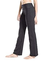 yogipace 8英寸 / 20英寸 / 20英寸 / 27.94cm 内缝长) 小号/常规 / 加长长度22.86cm 女式靴裤型瑜伽裤长休闲裤喇叭裤