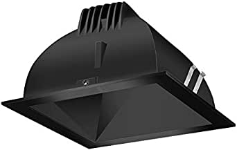 RAB Lighting NDLED6S-80YY-B-B  LED Trim Mod 6 Square 27K LED 80-Degree  Black Cone Black Ring