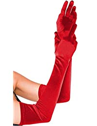 Ayliss 女士长染色手套及肘长度弹力晚间手指手套