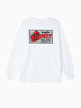 obey男T恤纯棉圆领长袖舒适宽松休闲164901595 White S