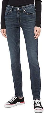 Calvin Klein 女士中腰紧身牛仔裤