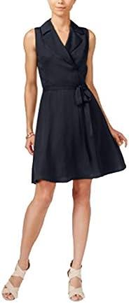 AJNX Armani Exchange 女式无袖领带腰带针织连衣裙