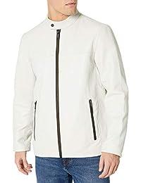 DKNY 男式现代皮革夹克