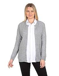 Knit Minded 女式长袖新颖针织毛衣,带 2 个口袋