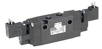 Parker 派克 Hannifin B561BDA49C系列 B5 铝制气动电磁阀 四向空气控制阀,24 VDC 电流,0.64 cm NPT 内联