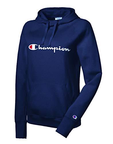 チャンピオンの女性のカジュアルスエードパーカーセーター