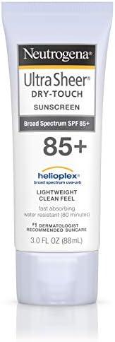 Johnson & Johnson 强生 Neutrogena 露得清 超透明干性防晒乳液,抗水不油腻,带SPF 85,3盎司(8