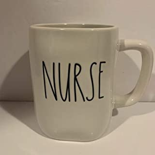 Rae Dunn NURSE 马克杯 - 16 盎司 - 陶瓷