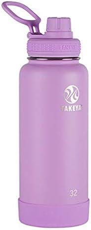 TAKEYA Actives不锈钢保温水壶 淡紫色 32盎司 51178