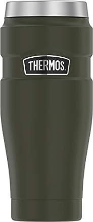 Thermos Stainless King 16盎司旅行杯,哑光黑色