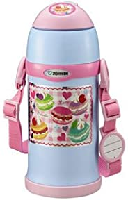 ZOJIRUSHI 象印 不銹鋼水杯 保冷 兒童運動水杯 兩用式 吸管式&杯蓋式 600ml 水藍色 SC-ZT6