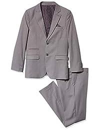 Geoffrey Beene 男孩纹理修身西装 2 件套