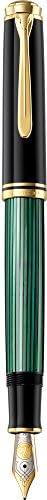Pelikan 百利金 Premium M800 EF 钢笔,黑/绿