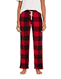 CYZ 女士抓絨睡褲 Black Red Gingham Medium