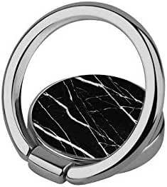 iDecoz 电话戒指支架通用手机戒指支架支架。 适用于 iPhone Xs、iPhone Xs MAX、iPhone X、iPhone 8/8 Plus、iPhone 7/7 Plus 等 黑色大理石