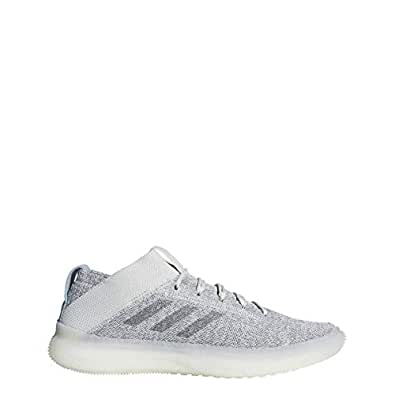 adidas 阿迪达斯 男式 Pureboost 运动鞋 Raw White/Grey Three F17/Cloud White 7.5 M US
