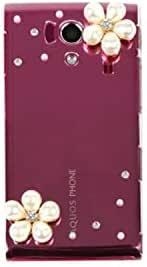 智能手机壳 透明 迷你 装饰 套 透明壳 硬质 装饰 定制 壳wn-0058895-wy Galaxy NOTE edge SC-01G パール花