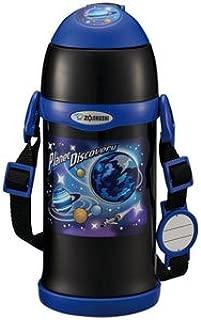 ZOJIRUSHI 象印 不銹鋼水杯 保冷 兒童運動水杯 兩用式 吸管式&杯蓋式 600ml 黑色 SC-ZT60-BA