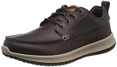 Skechers 斯凯奇 Delson-Elmino 男士莫卡辛鞋 棕色(巧克力) 39.5 EU
