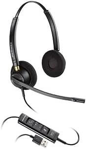 Plantronics EncorePro HW525 USB 双声道的 耳式耳机 1 包