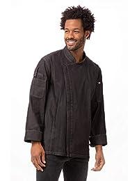Chef Works 男式灰色牛仔外套
