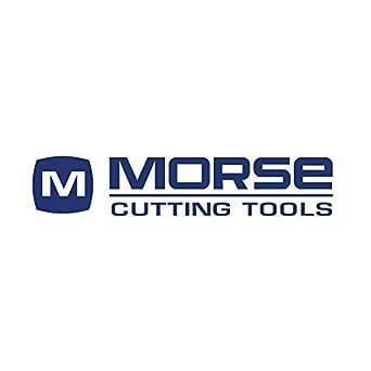 """Morse 切割工具 44927 粗螺距中心切割粗糙端磨,钴,氮化钛,常规长度,6 槽,1-1/2"""" x 1-1/4"""" 尺寸"""