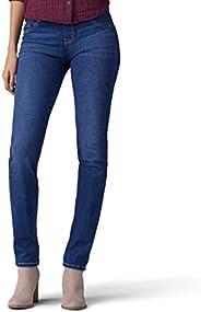 LEE 女式修身直筒牛仔裤