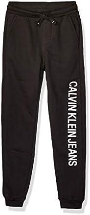 Calvin Klein 男童抓绒慢跑裤 黑色 5.08cm Medium (10/12)