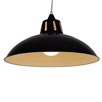 Loxton 照明金属工业/工厂灯罩,大漏斗形状,钢,黑色 黑色 17.5 x 40 cm ASP400BLK