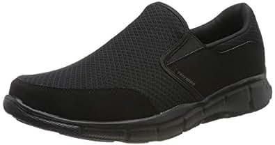 Skechers 斯凯奇 Sport 男士 休闲鞋 减震舒适 轻薄透气平底鞋 黑色 10.5 D(M) US