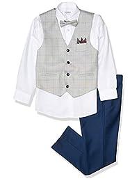 Isaac Mizrahi 男孩 4 件套格子背心套装