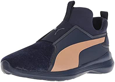 PUMA Rebel 中帮儿童运动鞋 Peacoat-dusty Coral 5.5 Big Kid