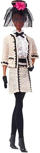 Barbie 芭比 時裝模特系列 Best To A Tea 12.5英寸/約31.75厘米 芭比娃娃 簽名娃娃,絲般光滑的身體,穿著米色薄紗套裝,帶有真實性證書