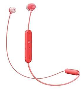 索尼 WI-C300 无线入耳式耳机,颈带设计(蓝牙,NFC,耳机功能,长达 8 小时的电池使用时间)WIC300R.CE7