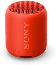 Sony 索尼 SRS-XB12 紧凑,便携式防水无线扬声器,带超低音-红色