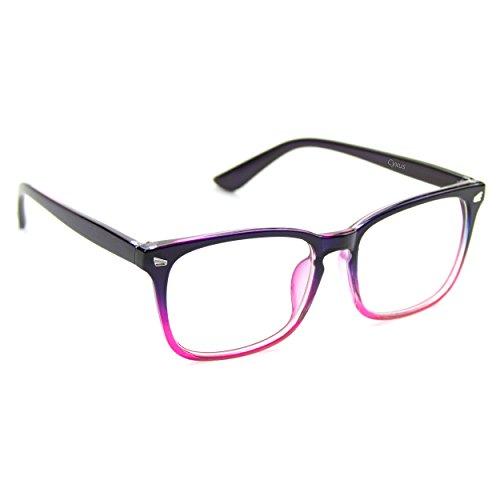 Cyxus 美国赛施 抗辐射防蓝光平光眼镜 手机电脑游戏防疲劳护目男女通用款 透明镜片粉紫渐变镜架