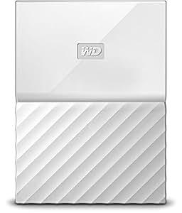 Western Digital 4TB 白色 My Passport便携式外置硬盘 - USB 3.0 - WDBYFT0040BWT-WESN