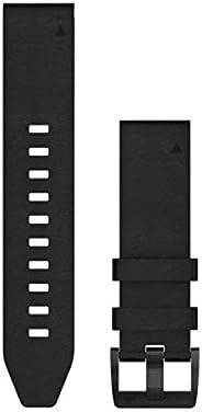 Garmin 010-12740-01 Quickfit 22 手表腕帶 - 黑色皮革 - Fenix 5 Plus/Fenix 5