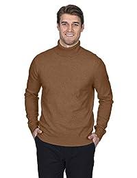 State Fusio 男式羊绒羊毛高领长袖套头毛衣,高品质
