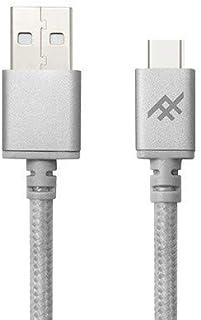 iFrogz UniqueSync 高级 USB 1.8 米 USB A USB C 男士银线 USB – 数据线 USB (1.8 米,USB A,USB C,男士/男士,银色)