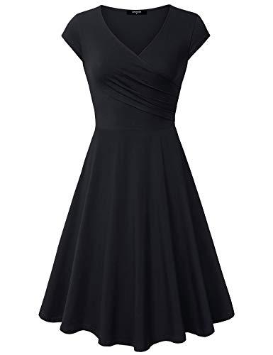 (チャンピオン)チャンピオンはCW-K211 [さん]をスカートlaksmiエレガントなドレス、女性のカジュアルなドレスキャップスリーブAラインVネック