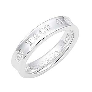 TIFFANY 蒂芙尼 纹银 1837 窄版戒指 カラー-シルバー