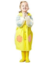 ファインジャパン 儿童雨衣(带收纳袋)可爱鸭子黄色 / YE RS 8128