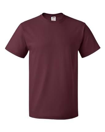 Fruit of the Loom mens 5 oz. 100% Heavy Cotton HD T-Shirt(3931)-MAROON-6XL